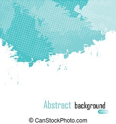 Blue abstract paint splashes illustration. Vector background with place for your text.