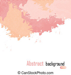 Pink abstract paint splashes illustration. Vector background with place for your text.