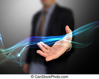 hand holding background Abstract