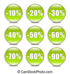 Discount Button in green
