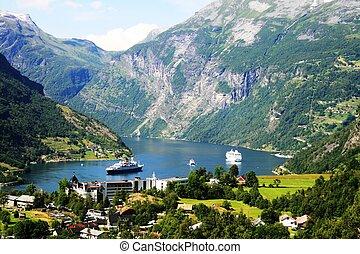 Geiranger,  Norway - Harbor