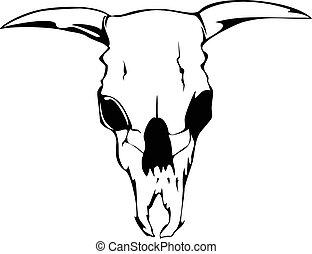 skill bull - Vector illustration skill bull
