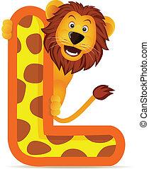 Lion with alphabet L