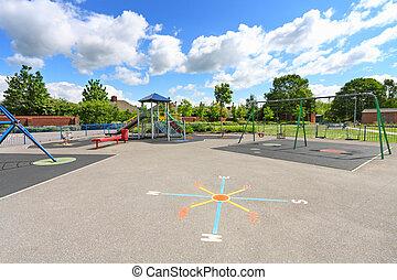 Children playground in summer