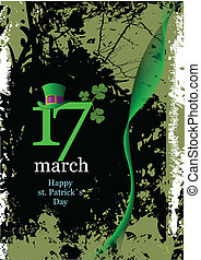 Vector of green hats and shamrocks for St. Patrick's Day....