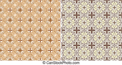 set with four vector seamless floral spring patterns