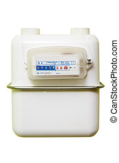 Gas meter on a white background - A gas meter on a white...