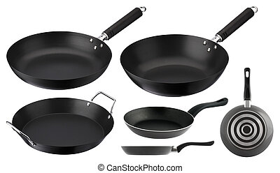 cookware - one set of cookware in different sizes and for...