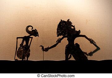 Wayang Kulit, Javanese theater of puppets shadows
