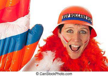 Dutch woman as soccer fan