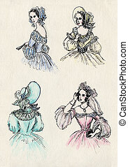 fancy women 18 century. part 4