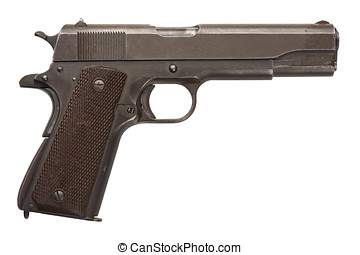 usado, militar, pistola, 1911A1
