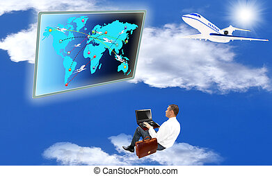 Air transport - Innovative navigating program complexes of...