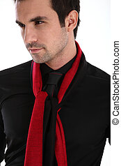 Handsome man in shirt and tie