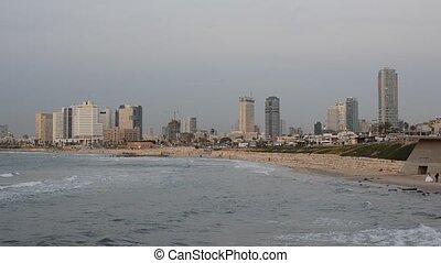 Tel Aviv - Mediterranean coastal view of Tel Aviv