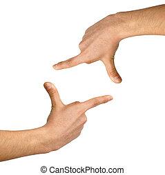 branca, Formule, fundo, mão