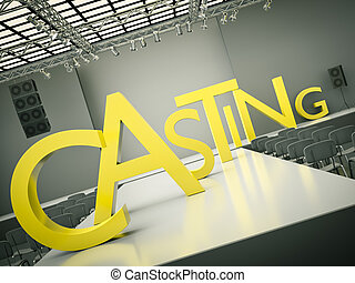 Casting   - Fashion casting concept. 3D rendered image.