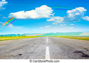 road - summer day and road as travel background