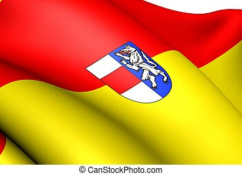 Flag of Sankt Polten, Austria. Close Up.