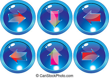 Arrow glossy web buttons