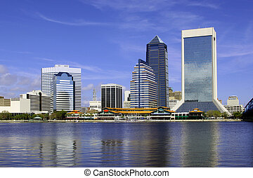 Jacksonville, Florida - Beautiful view of Jacksonville,...