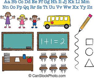 School Stick Figures