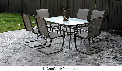 Sitting area - An outdoor sitting area on a patio