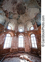 Old abandoned church interior - Old and abandoned church...