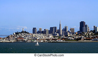 San Francisco skyline - The San Francisco skyline from the...