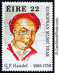 Postage stamp Ireland 1985 George Frideric Handel, Composer...
