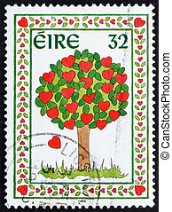 Postage stamp Ireland 1995 Tree of Hearts - IRELAND - CIRCA...