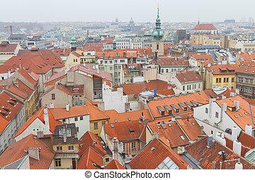 Cityscape, ceco, repubblica, Praga