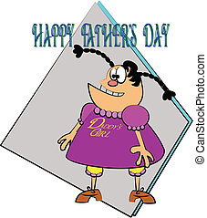 daddys lil girl - greeting card for fathers day from daddy's...