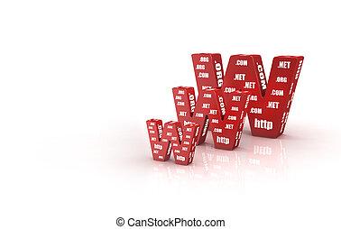3D Illustration - 3D Illustration of world wide web concept...