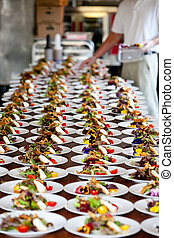 Wedding preparation and food servic