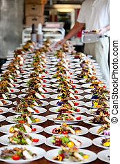 婚禮, 準備, 食物, Servic