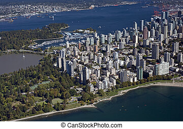 Vancouver Aerial - West End and Coa - Vancouver Aerial -...