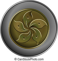 vector Chinese money gold and silver coin