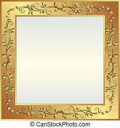 golden background - bright background with golden frame and...