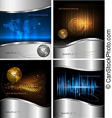 Big set of abstract backgrounds