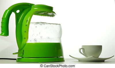 Boiling Electric Kettle - A boiling electric kettle and...