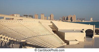 Amphitheater in Katara cultural village, Doha Qatar