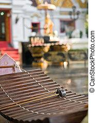 Treble gamelan thai musical performed the ceremony.