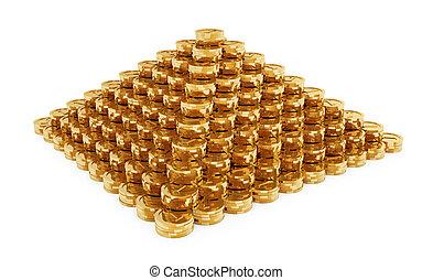 moedas, piramide