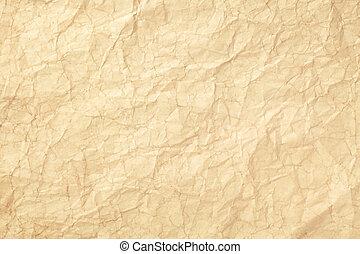 Old wrinkled paper