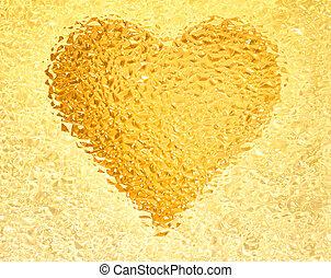 frozen gold heart