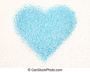 frozen blue heart