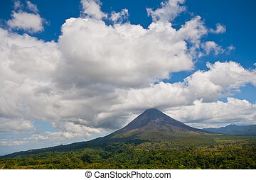 Arenal Volcano - Landscape view of Arenal Volcano and...