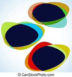 Multicolor abstract template. EPS 8