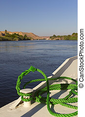 View of the Nile from the boat (Egypt)